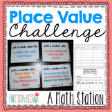 Place Value Challenge Game - Pick a Card