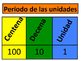 Place Value Chart in Spanish
