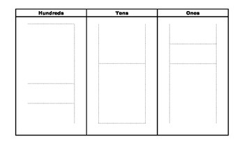Place Value Chart with Ten Frame