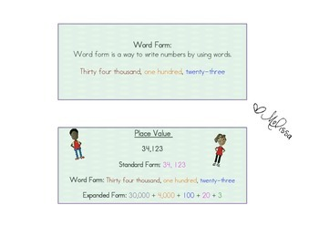 Place Value Cheat Sheets
