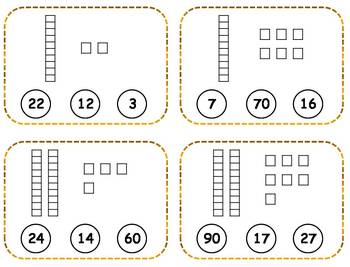 Place Value Clothespin Task Cards