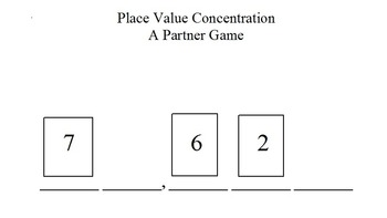 Place Value Concentration - Build a 4 or 5 Digit Number