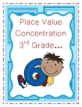 Place Value Concentration (Matching Game)-3rd Grade
