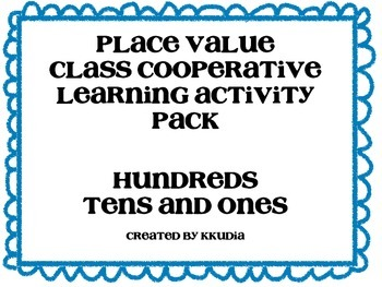 3-Digit Place Value Cooperative Learning Activities- Hundr