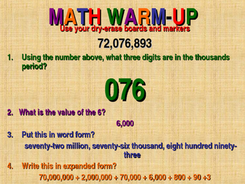 Power Point Lesson Place Value Decimals Whole Numbers Frac