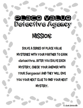 Place Value Detective Agency