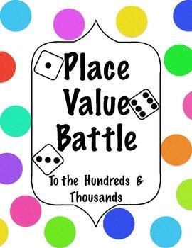 Place Value Dice Battle
