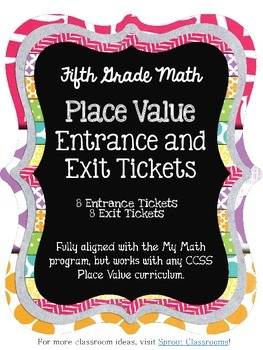 Place Value Entrance & Exit Tickets {5th Grade}