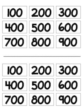 Place Value Expanded Form Number Cards