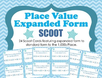 Place Value Expanded to Standard Form SCOOT  (Numbers in t