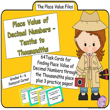 Place Value Files - Naming Decimal Numbers to Thousandths