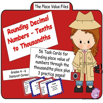 Place Value Files - Rounding Decimal Numbers To Thousandth