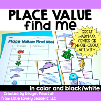 Place Value Find Me! Game or Center