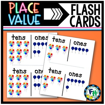 Place-Value Flash Cards #1-100