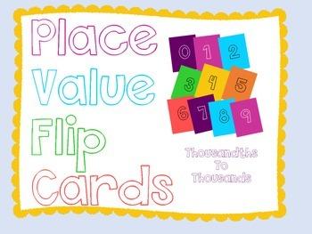 Place Value Flip Cards