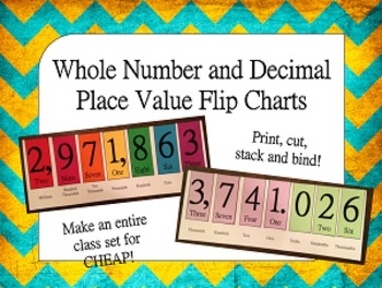Place Value Flip Charts