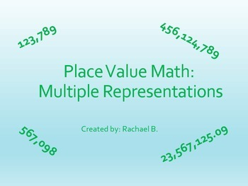 Place Value  Forms Match 4.2B