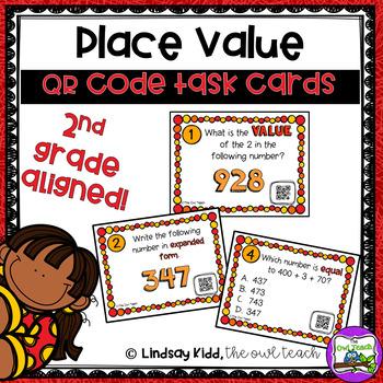 3 Digit Place Value:  QR Task Cards