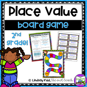 Place Value Game:  3 Digit Numbers Board Game
