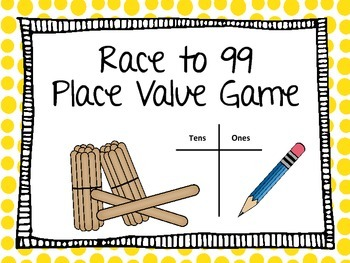 Place Value Game: Race to 99