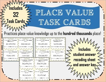 Place Value- Hundred Thousands