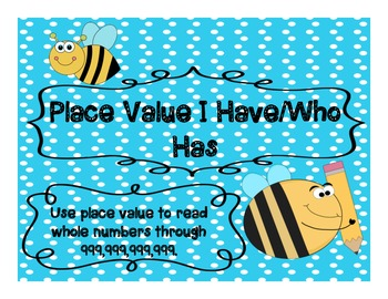 Place Value I Have/Who Has