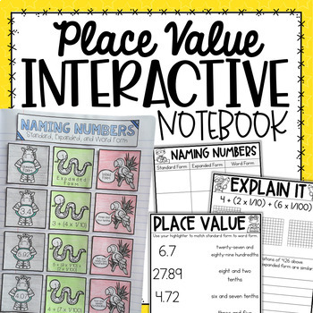 Expanded & Word Form Interactive Notebook {5.NBT.3}