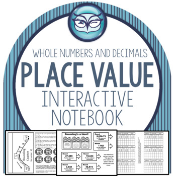 Place Value Interactive Notebook for 4th and 5th grades