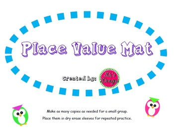 Place Value Mat - for dry erase sleeves