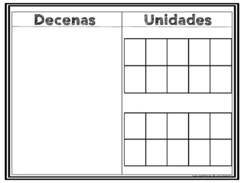 Place Value Mat in Spanish