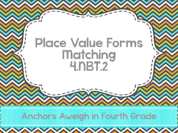 Place Value Matching 4.NBT.2