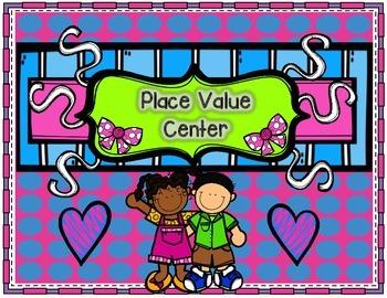 Place Value Math Center - Tens and Ones {1.NBT.B.2, K.NBT.A.1}