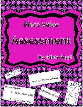 Place Value Math Quiz