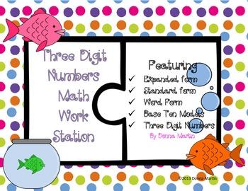 Three Digit Numbers Math Station