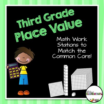 Place Value Work Stations {Rounding, Expanded Form, and Re