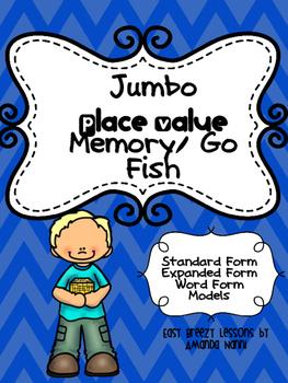 Place Value Memory/ Go Fish (Jumbo Edition)!