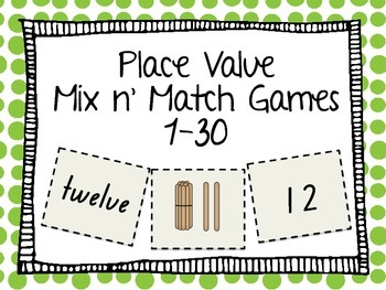 Place Value : Mix n Match Games and Activities
