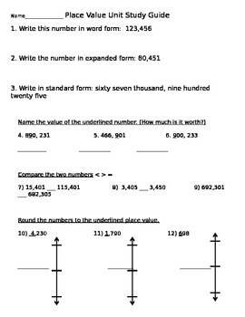 Place Value Mixed Review