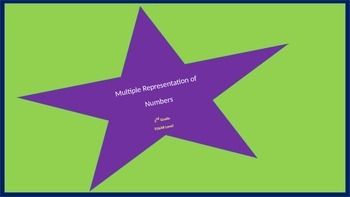 Place Value- Multiple Representation of Numbers