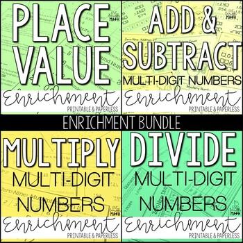 Place Value, Multiply, and Divide Enrichment: Logic Puzzle