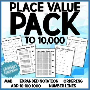 Place Value Pack - expanded notation, tic-tac-toe, orderin