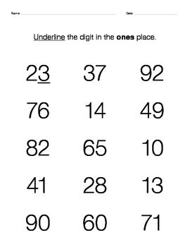 Place Value Package