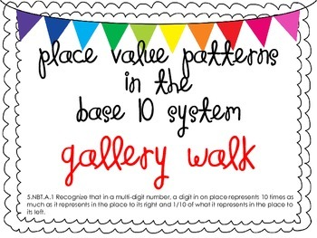 Place Value Patterns in the Base 10 System Gallery Walk