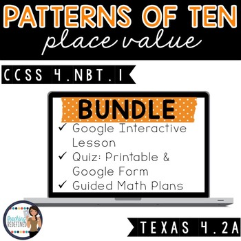 Place Value Patterns of Ten Lesson BUNDLE