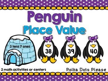 Place Value Penguins Math Centers