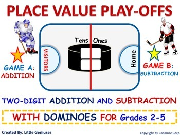 Subtraction With Regrouping Hockey Game + Addition Variations