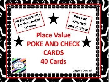Place Value Poke and Check Cards