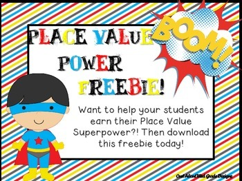 Place Value Power Pack Freebie!