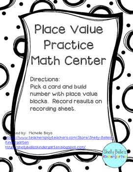 Place Value Practice Center for Teen Numbers