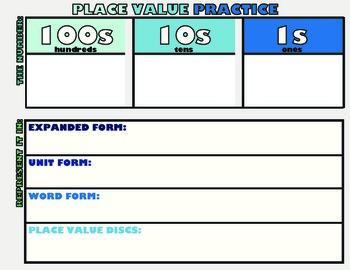 Place Value Practice Mat